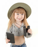Baby girl - tourist Stock Images