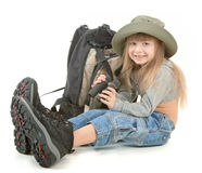 Baby girl - tourist Stock Image
