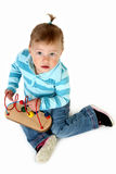 Baby Girl with Toys stock photos