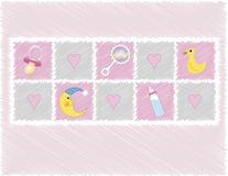 Baby girl toys royalty free illustration