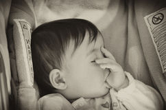 Baby Girl trying to Sleep. Italy Royalty Free Stock Images