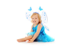 Baby girl in a tutu - butterfly Royalty Free Stock Image