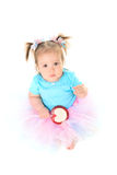Baby girl in tutu Stock Photos