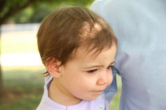 Baby Girl Unhappy royalty free stock images