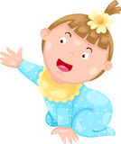 baby girl vector Stock Image
