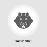 Baby girl Vector Flat Icon Royalty Free Stock Image