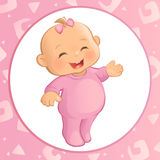 Baby Girl (Vector) Royalty Free Stock Photo