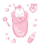 Baby girl Stock Image