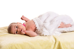 Baby girl waiting forr massage Stock Photo