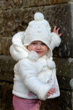 Baby girl on a walk Stock Photography