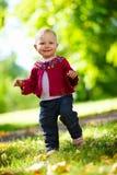Baby girl walking royalty free stock photo
