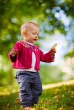 Baby girl walking Royalty Free Stock Image