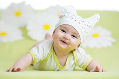 Baby girl weared hat Royalty Free Stock Images