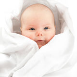 Baby girl in white Stock Photography