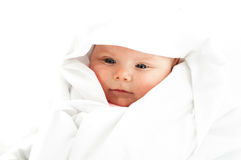 Baby girl in white Royalty Free Stock Photography