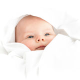 Baby girl in white Royalty Free Stock Photo