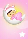 Baby girl who dreams Stock Photo