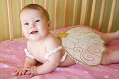 Baby Girl with Wings Stock Photos