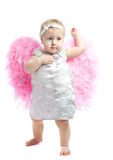 Baby girl with wings Stock Photography