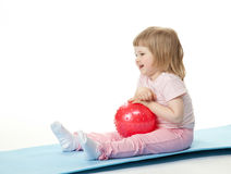 Baby Girl With A Ball Stock Photography