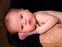 Baby Girl With Blue Eyes Royalty Free Stock Image