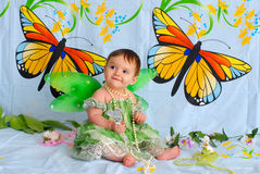 Free Baby Girl With Butterfly Wings Royalty Free Stock Photo - 5452155