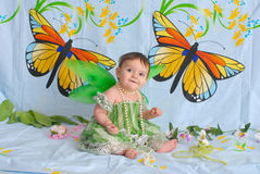 Free Baby Girl With Butterfly Wings Stock Photos - 5531093