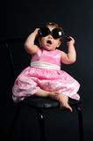 Baby Girl With Glasses Royalty Free Stock Photos