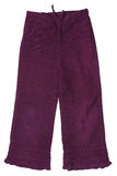 Baby girls cord trousers Royalty Free Stock Photo
