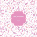 Baby girls frame seamless pattern background Royalty Free Stock Photo