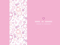 Baby girls horizontal frame seamless pattern background Royalty Free Stock Images