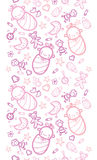Baby girls horizontal seamless pattern background Royalty Free Stock Photography