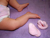 Baby Girls Legs Royalty Free Stock Images