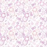 Baby Girls Seamless Pattern Background Stock Photography