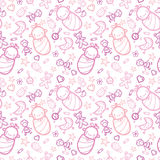 Baby girls seamless pattern background Stock Photography
