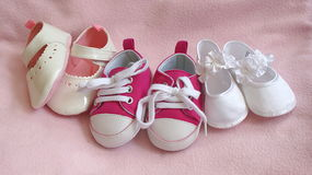 Baby Girls Shoes Stock Image