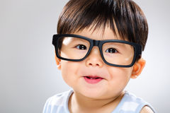 Baby with glasses Royalty Free Stock Photos