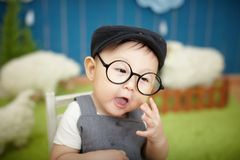 Baby with glasses Royalty Free Stock Image