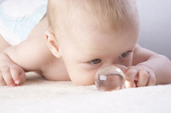 Baby & globe Royalty Free Stock Images