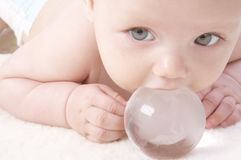 Baby & globe Royalty Free Stock Photography