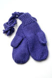 Baby gloves on white background Royalty Free Stock Photos