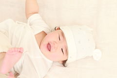 Baby in a good mood Stock Image