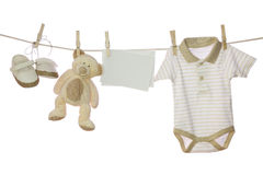 Baby Goods And Blank Note Stock Images