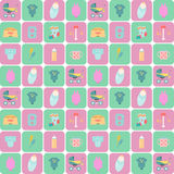 Baby goods. Children flat icons. Royalty Free Stock Image