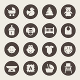 Baby goods icons. Vector Illustration Royalty Free Stock Photography