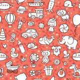 Baby goods pattern. Stock Photos