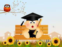 Baby graduate Royalty Free Stock Photos