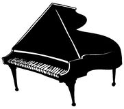 Baby Grand Piano Royalty Free Stock Images