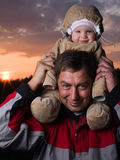 Baby with grandfather Stock Photo