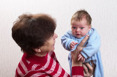 Baby with grandma Royalty Free Stock Image